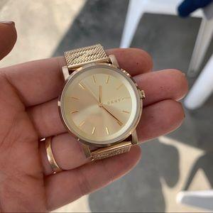 Beautiful and Elegant DKNY Gold Mesh Watch